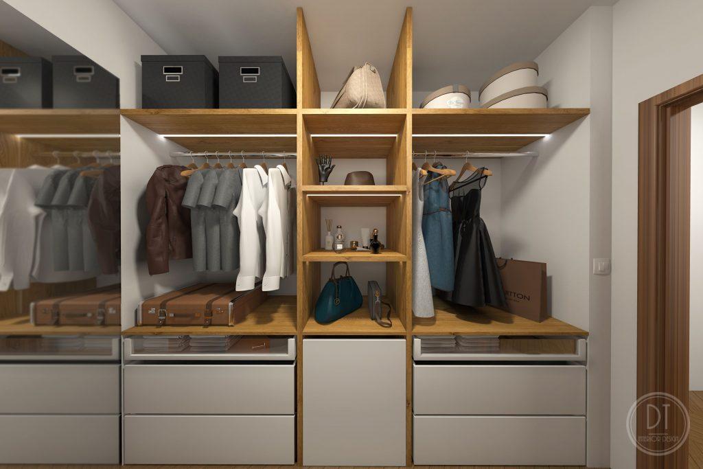 2 izbový byt – šatník